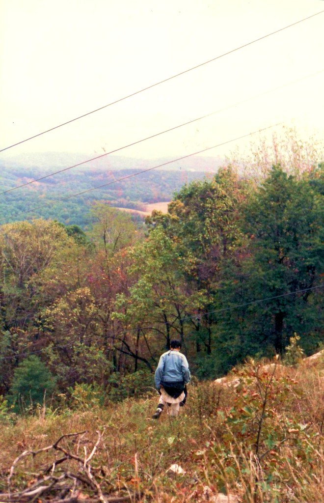 Berkeley Springs, WV. Oct 1986, I believe. One of my favorite photos ever, of a wonderful adventure.